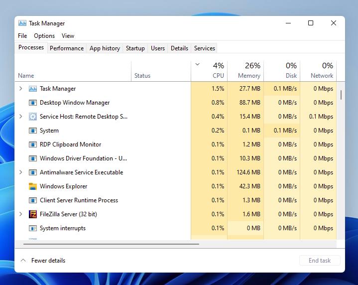 Windows 11 Task Manager