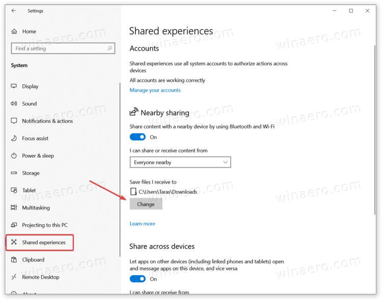 Change Default Folder