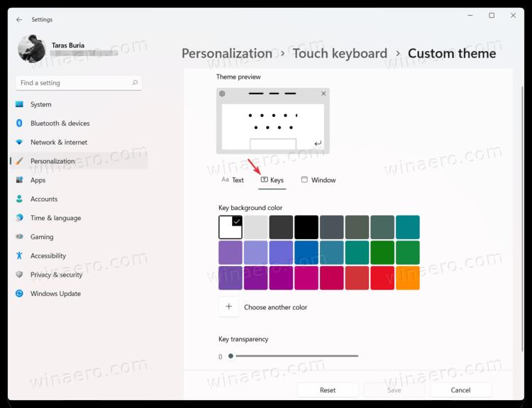 Change Key Color