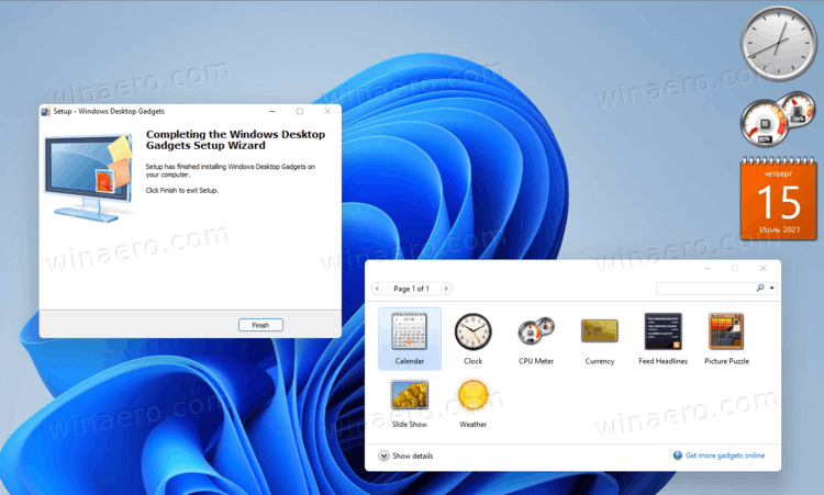 Desktop Gadgets for Windows 11