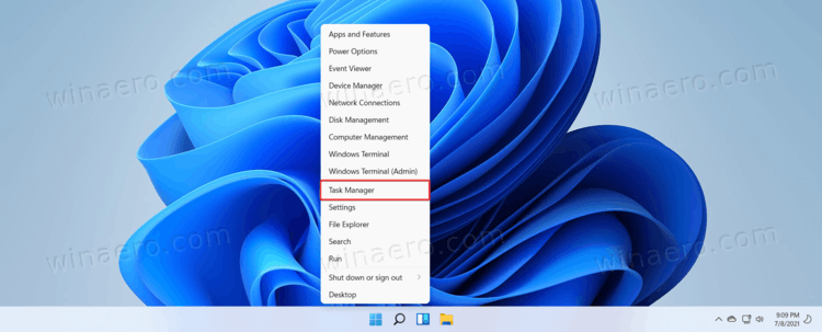 Open Task Manager In Windows 11