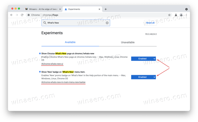 Enable The What's New Page In Google Chrome