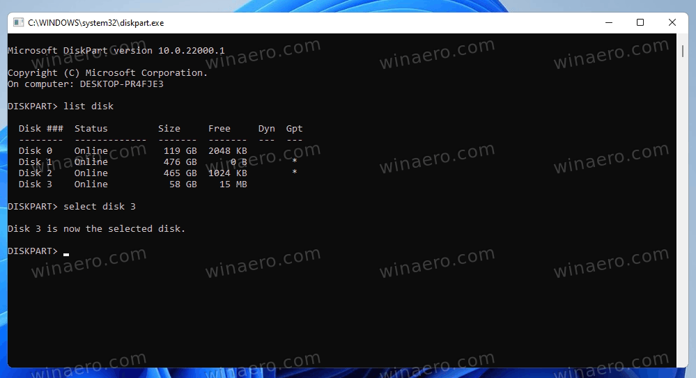 Select Disk To Create Bootable USB With Windows 11