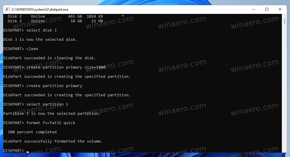 Windows 11 Bootable USB Format Fat32 Partition