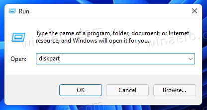 Windows 11 Run Diskpart