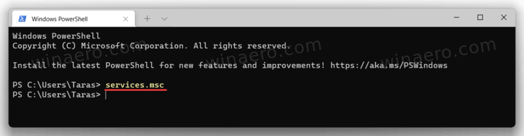 Windows Terminal Open Services In Windows 11