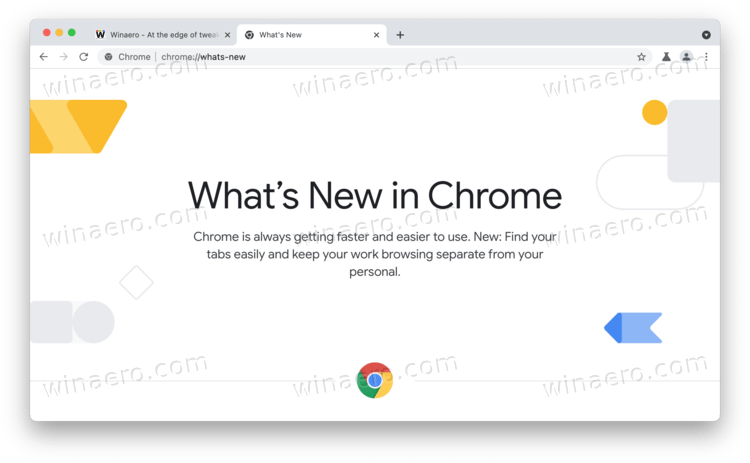 Whats New Page In Chrome