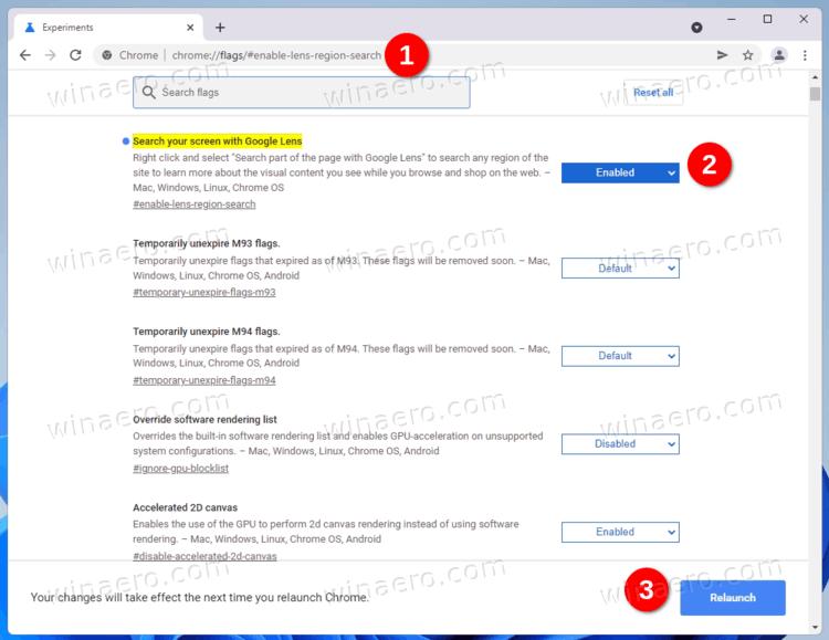 Google Chrome Enable Search Lens