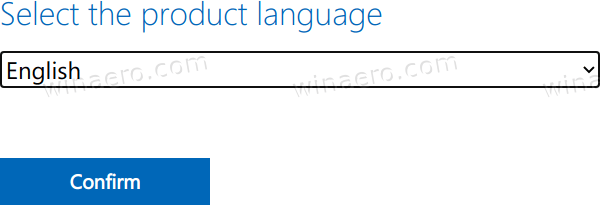 Select Language For Windows 11 ISO
