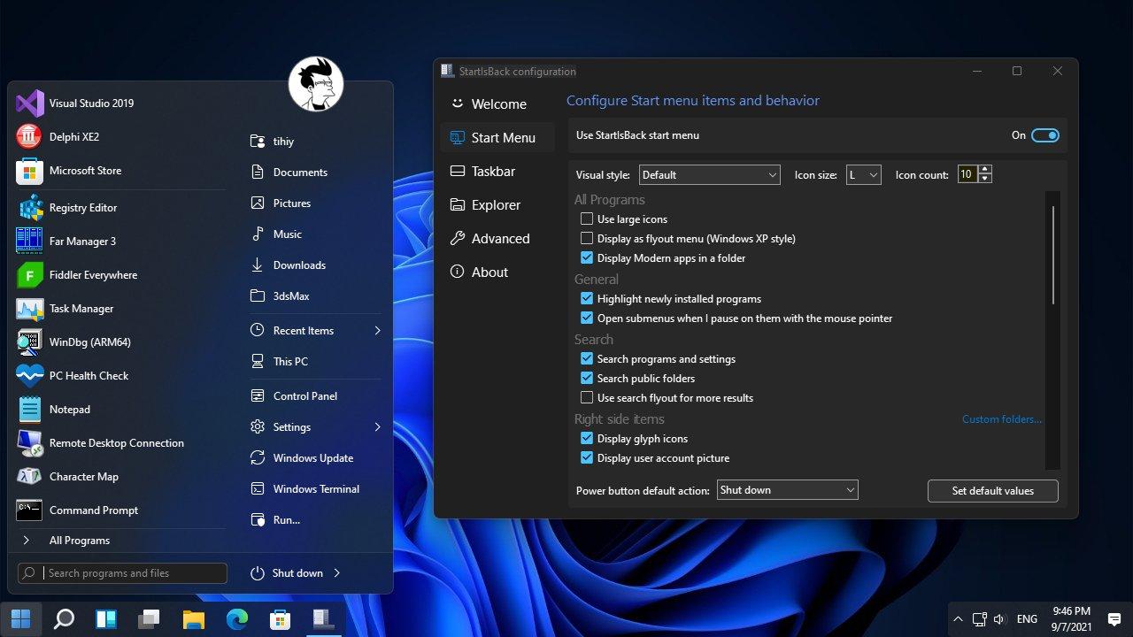 StartIsBack For Windows 11