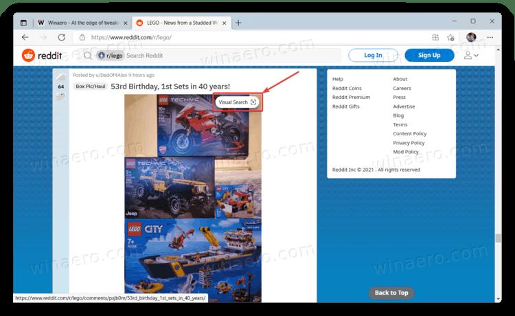 Visual Search Edge 1
