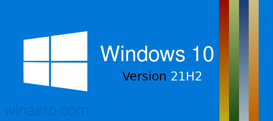 Windows 10 21h2 Banner