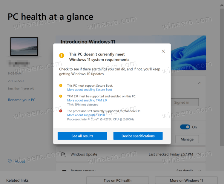 Check If Your PC Supports Windows 11 With Incompatible Hardware