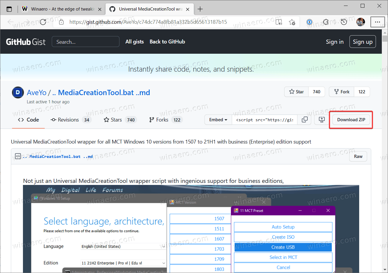 Download MediaCreationTool.bat Tool
