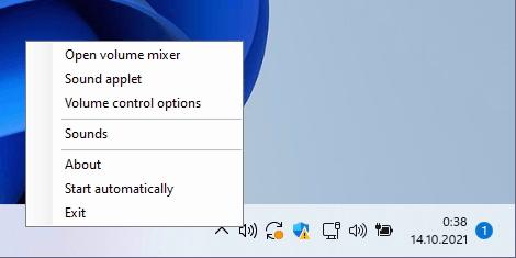 Classic Volume Control Right Click Menu