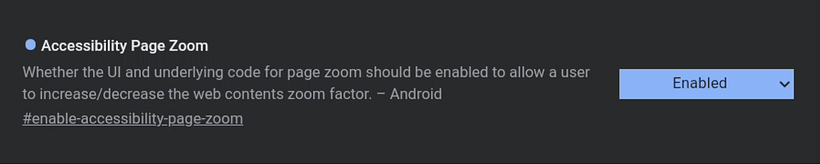 Enable Page Zoom In Google Chrome For Android