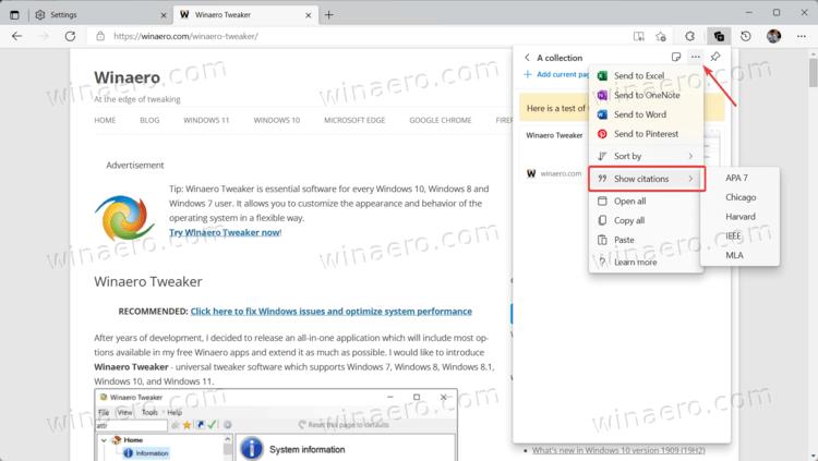 Microsoft Edge Collection Citations 1