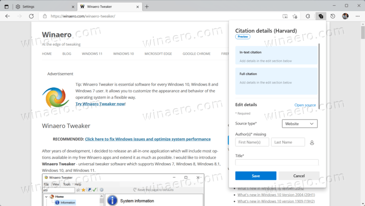Microsoft Edge Collection Citations 3