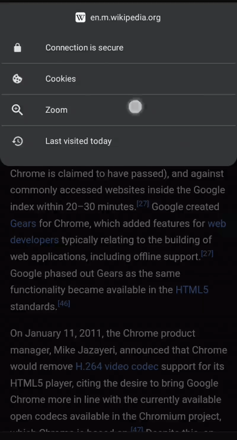 New Page Zoom Feature In Chrome On Android