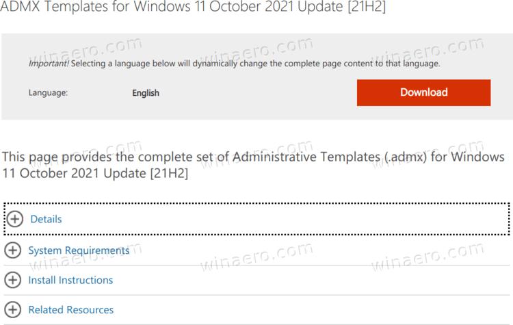 Windows 11 Download Administrative Templates ADMX