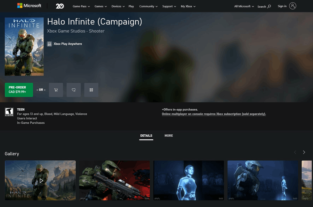 Xbox Store Updated Web Version