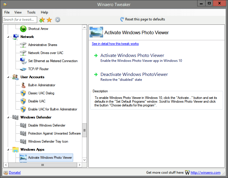 Activate Windows Photo Viewer
