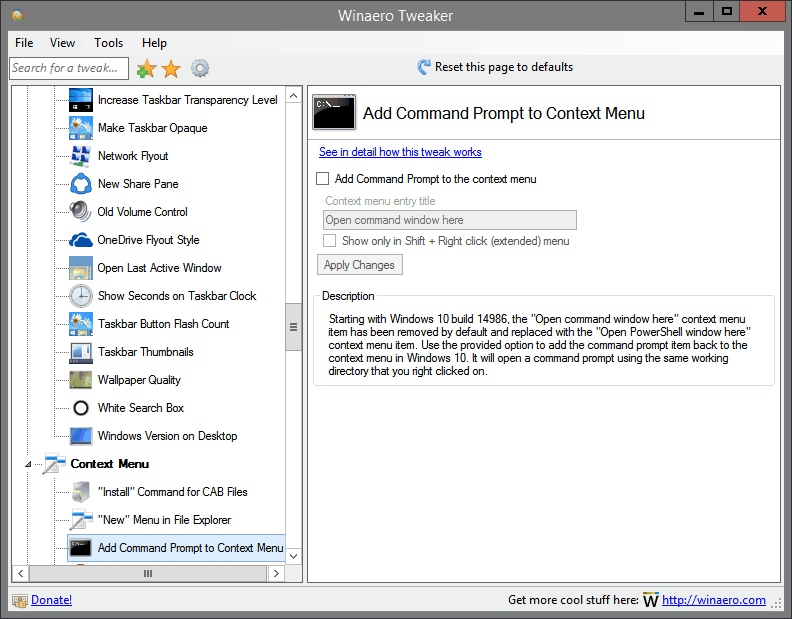 Add Command Prompt to Context Menu