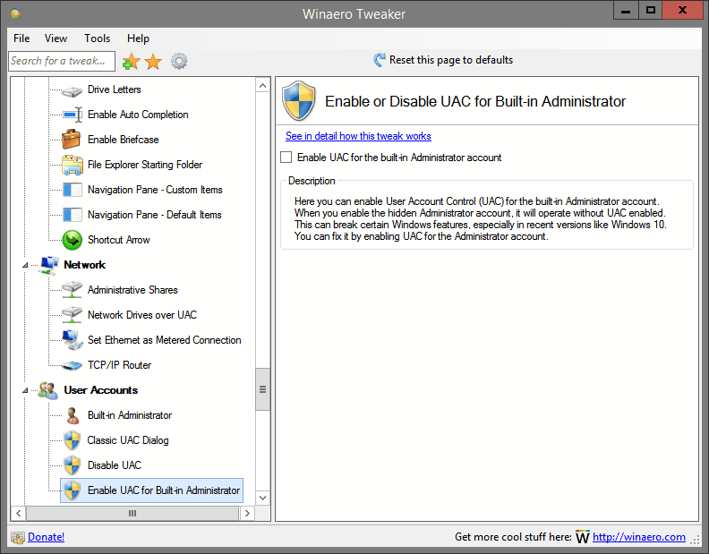 Enable UAC for Built-in Administrator