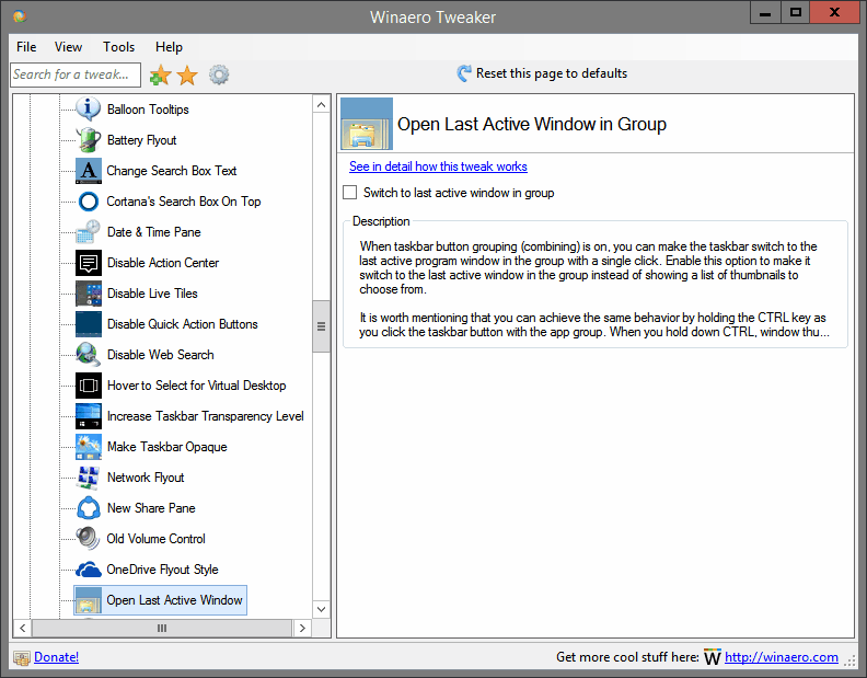 Open Last Active Window